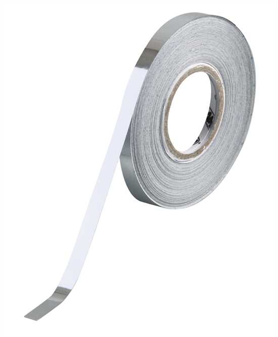 10 m 10 mm Film adesivo cromato ultrasottil Maniac-Chrome Stripe