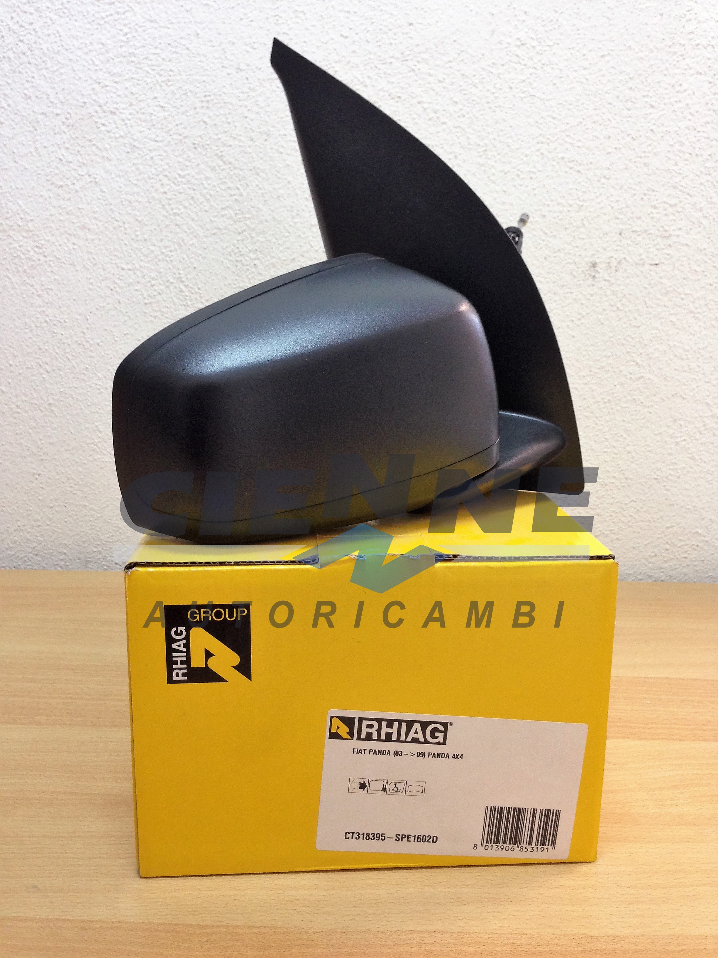 RHIAG SPE1602D Specchietto destro meccanico Fiat PANDA 03/>